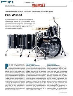 DrumHeads Instrumente & Technik: Sonor Phil Rudd Special Edition Kit & Phil Rudd Signature Snare