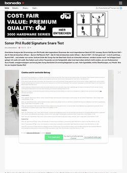 Bonedo.de Sonor Phil Rudd Signature Snare