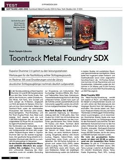 KEYS Toontrack Metal Foundry SDX