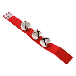 Nino961R Wrist Bells Red Nino