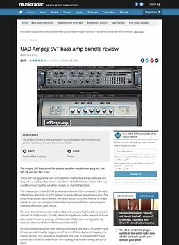 UAD Ampeg SVT bass amp bundle