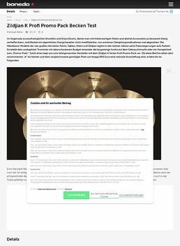 Zildjian K Profi Promo Pack Becken