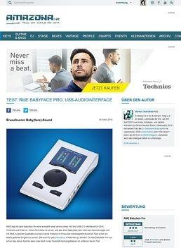 Test: RME Babyface Pro, USB-Audiointerface