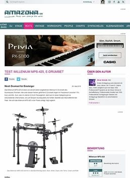 Test: Millenium MPS-425, E-Drumset