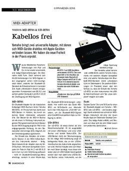 MD-BT01 Wireless Midi Adapter