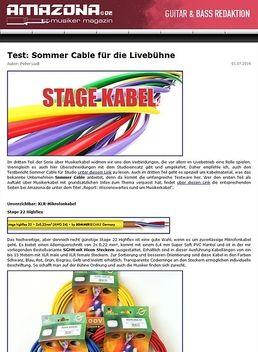 Test: Sommer Cable für die Livebühne