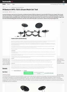 Millenium MPS-750 E-Drum Mesh Set