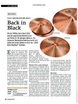 "18"" 2002 Black Big Beat Cymbal"