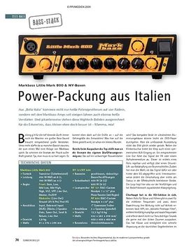 Test: Markbass Little Mark 800 & NY-Boxen – Power-Packung aus Italien
