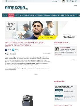 Test: Ampeg, Micro VR Head & SVT-210AV Cabinet, Bassverstärker