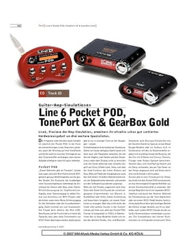 Line 6 Pocket POD, TonePort GX & GearBox Gold