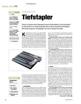 Test: Soundcraft EFX12 - Tiefstapler
