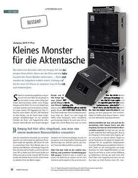 Test: Ampeg SVT-7 Pro – Kleines Monster für die Aktentasche