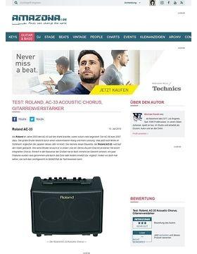 Test: Roland, AC-33 Acoustic Chorus, Gitarrenverstärker