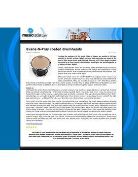 Evans G-Plus coated drumheads