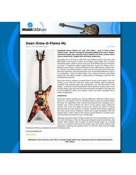 Dean Dime-O-Flame ML
