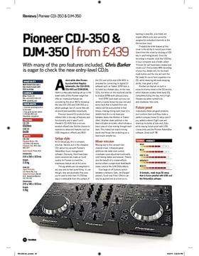 Pioneer CDJ350 and DJM350