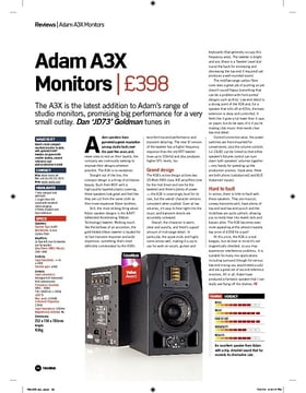 Adam A3X Monitors