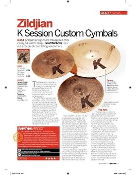 Zildjian K Session Custom Cymbals