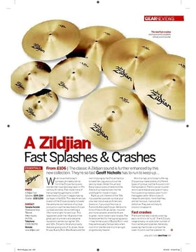 A Zildjian Fast Splashes and Crashes