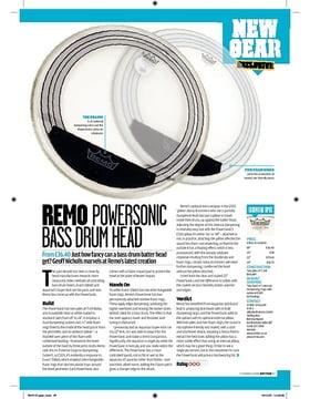 REMO POWERSONIC Bass drum head