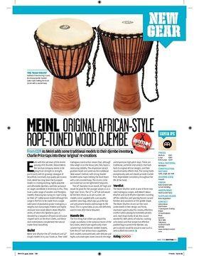 MEINL ORIGINAL AFRICANSTYLE ROPETUNED WOOD DJEMBE