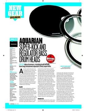 Aquarian SUPERKICK AND REGULATOR BASS  DRUM HEADS