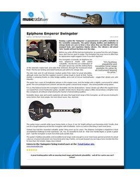 Epiphone Emperor Swingster