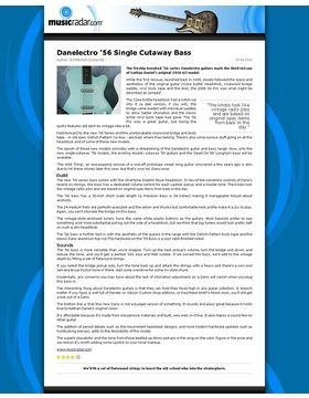 Danelectro '56 Single Cutaway Bass