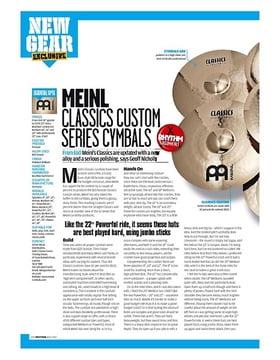 Meinl Classics Custom Series Cymbals