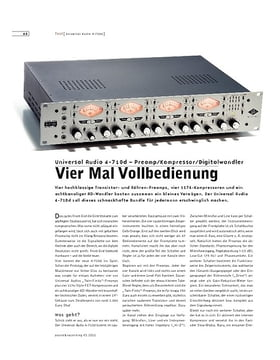 Universal Audio 4-710d – Preamp/Kompressor/Digitalwandler