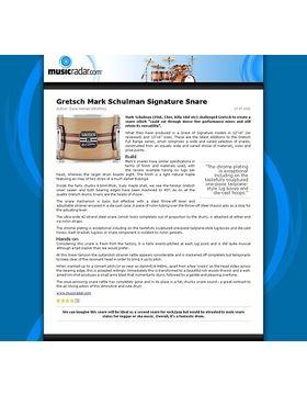Gretsch Mark Schulman Signature Snare