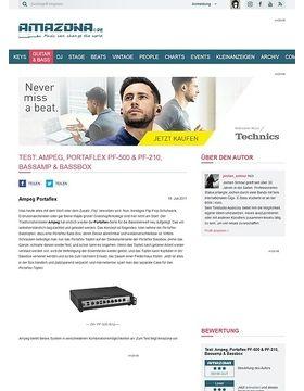 Test: Ampeg, Portaflex PF-500 & PF-210, Bassamp & Bassbox