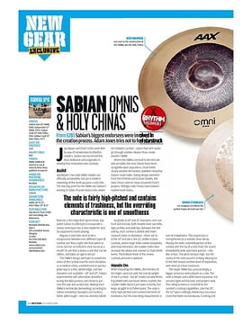 SABIAN OMNIS and HOLY CHINAS