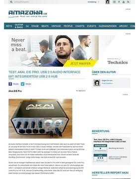 Test: Akai, EIE Pro, USB 2.0 Audio Interface mit integriertem USB 2.0 Hub