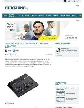 Test: Roland, Tri-Capture UA-33, USB Audio Interface