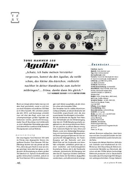 Aguilar Tone Hammer 350, Bass-Top