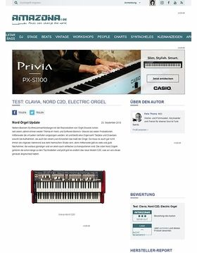 Test: Clavia, Nord C2D, Electric Orgel