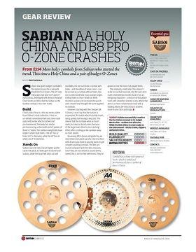 SABIAN AA HOLY CHINA AND B8 PRO O ZONE CRASHES