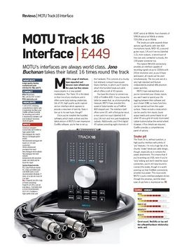 MOTU Track 16 Interface