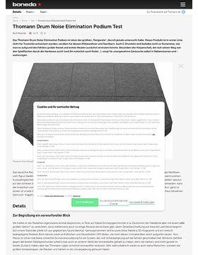 Thomann Drum Noise Elimination Podium Test
