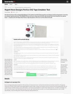 Rupert Neve Designs Portico 542 Tape Emulator Test