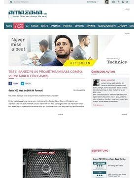 Test: Ibanez P3110 Promethean Bass Combo, Verstärker für E-Bass
