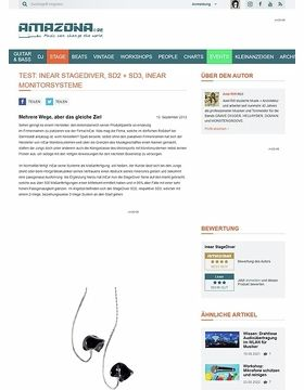 Test: InEar StageDiver, SD2 + SD3, InEar Monitorsysteme