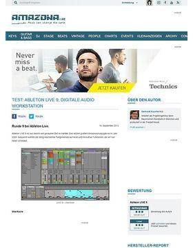 Test: Ableton LIVE 9, Digitale Audio Workstation