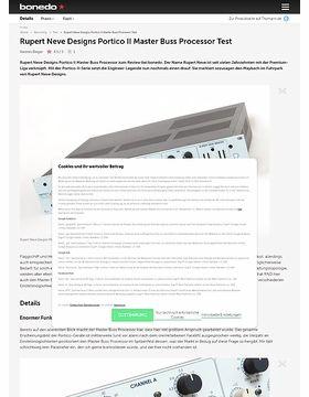 Rupert Neve Designs Portico II Master Buss Processor Test