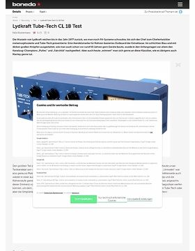 Lydkraft Tube-Tech CL 1B Test