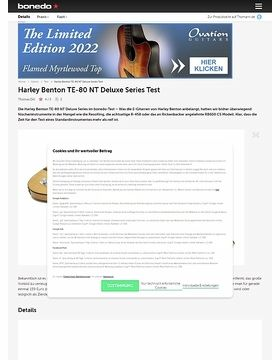 Harley Benton TE-80 NT Deluxe Series Test