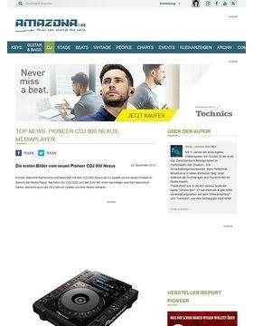 Top News: Pioneer CDJ 900 Nexus, Mediaplayer