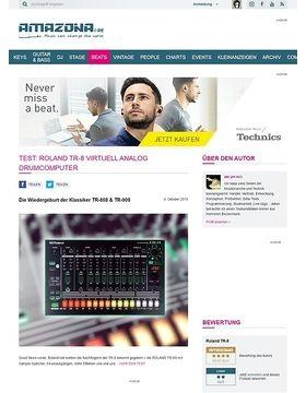 Test: Roland TR-8, Rhythm Performer